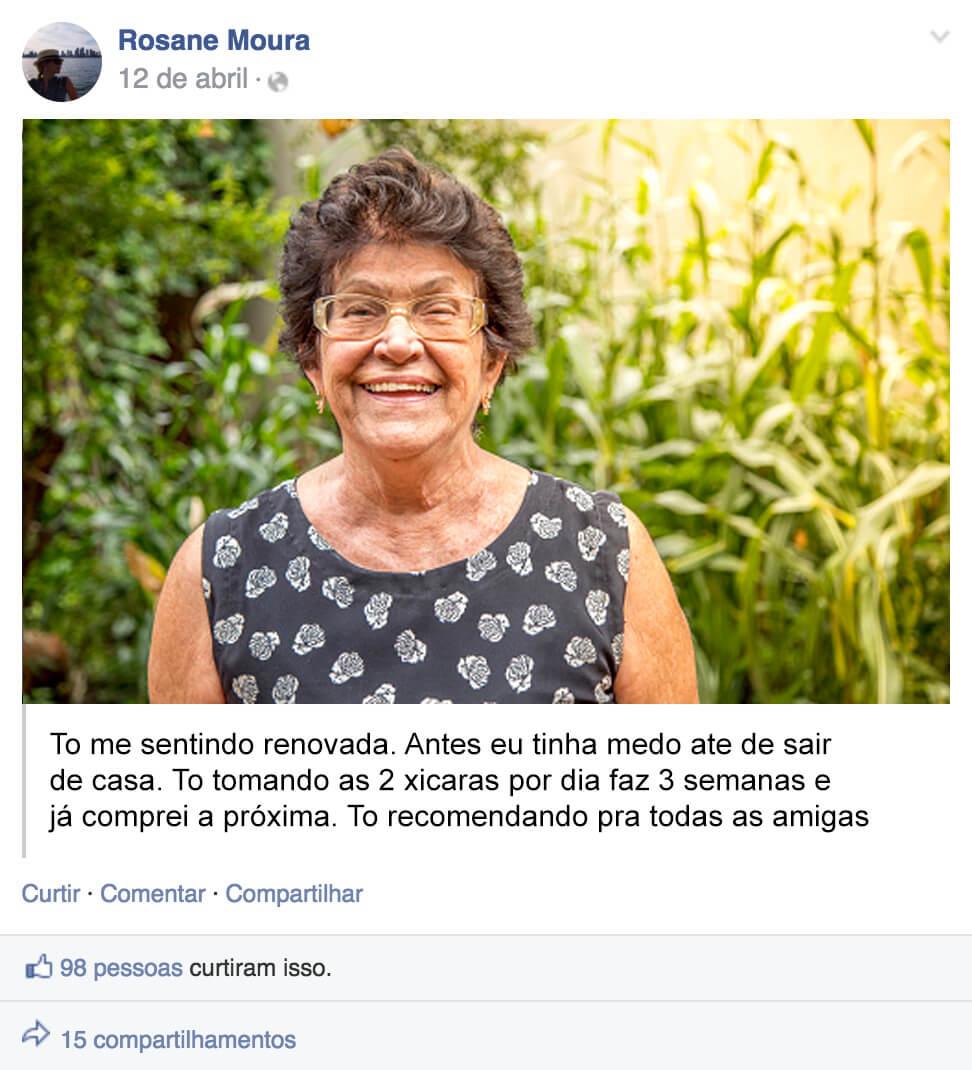 Depoimento Rosane Moura para Chá Eleve